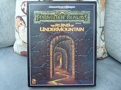 AD&D Forgotten Realms THE RUINS OF UNDERMOUNTAIN • 30£