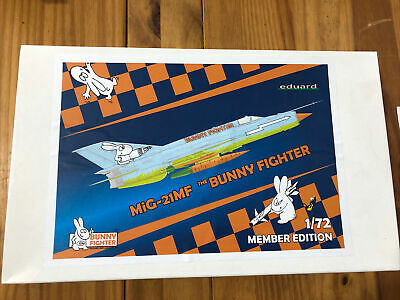 Eduard 1:72 The Bunny Fighter Mig-21MF Members Edition • 0.99£