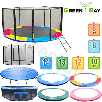 Trampoline Replacement Pad Safety Net Rain Cover Ladder Skirt 6 8 10 12 13 14 Ft • 59.45£