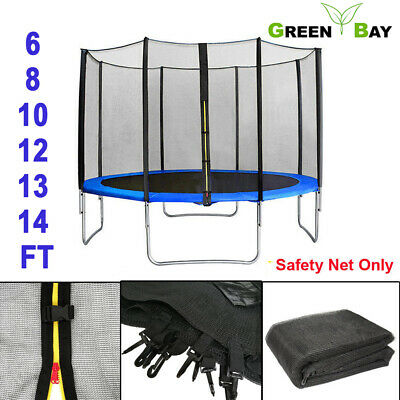 TRAMPOLINE REPLACEMENT SAFETY NET ENCLOSURE SURROUND Outdoor 6 8 10 12 13 14 Ft • 25.95£