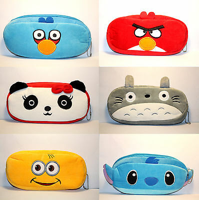 Panda Totoro Stitch Rabbit Novelty Cute Student Pencil Case Purse Cosmetic Pouch • 3.79£
