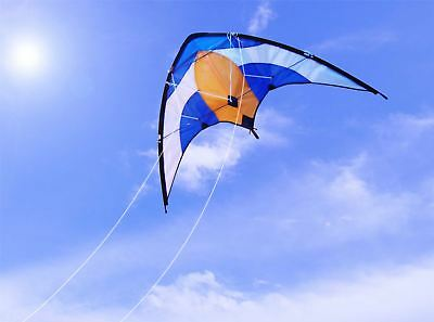 Professional 50m Dual 2 Line Control Delta Sport Stunt Kite Outdoor Fly High • 9.99£