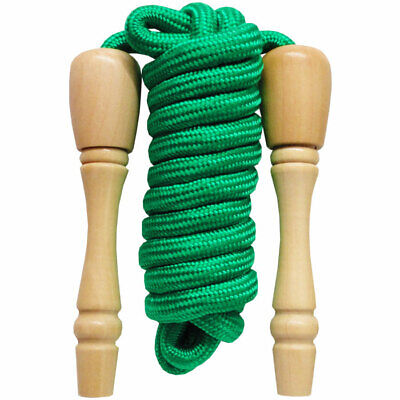 Wooden Handled Skipping Rope - Children's Traditional Skipping Playground Toy • 6.50£