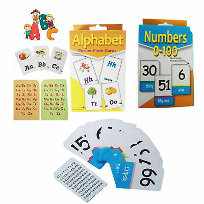 Kids Flash Cards Educational Learning Flashcards Numbers Alphabet Words Maths • 5.49£