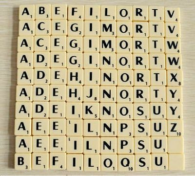 Individual Ivory Plastic Scrabble Tile Letters A - Z With Black Letters & Values • 1.99£