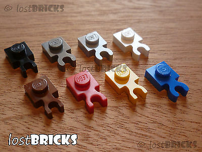 10 X NEW LEGO Plates 1x1 With Clip (Part 4085 / 4085d) +SELECT COLOUR +FREE POST • 1.75£