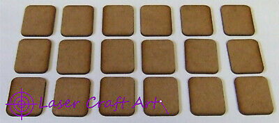 2mm Thick MDF Small Size FOW Type Bases 1 Pack Of 18, FOW Flames Of War • 1£