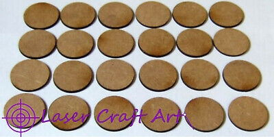 2mm MDF 25mm Round Bases Pack Of 24 Suitable For Bolt Action And Other Games • 1£