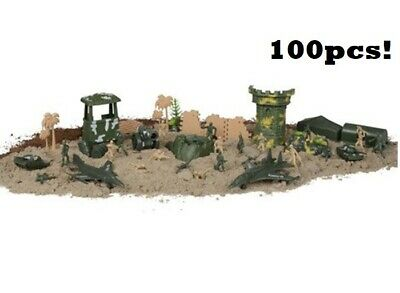 300 PC Green Plastic Toy Soldiers For Army Military War Games Soldier Men • 9.99£