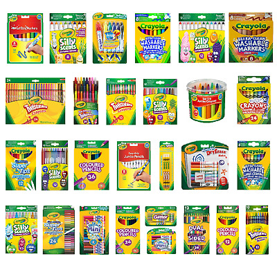 Crayola Crayons, Markers, Supertips, Chalk, ColoringPencils - FAST&FREE DELIVERY • 6.90£