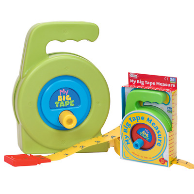 Kids Tape Measure Robust Educational Teaching Toy Role Play Pretend Dad Help • 6.95£