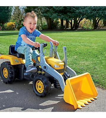 Ride On Pedal Digger - Kids Indoor & Outdoor  Ride On Tractor - YELLOW  • 59.99£