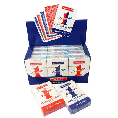 Waddington No1 Classic Playing Cards Decks Of Red & Blue Linen Finish  • 16.99£