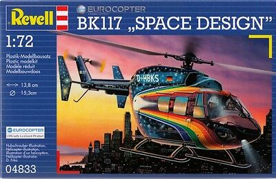 Kit Revell 1:72 To Assemble Helicopter Eurocopter Bk117 Space Design Art 04833 • 8.82£