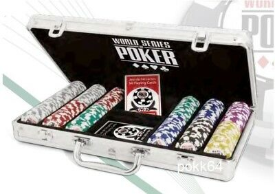 Briefcase Wsop 300 Tokens World Series Poker Clay Composite +2 Games Cards 00125 • 95.48£