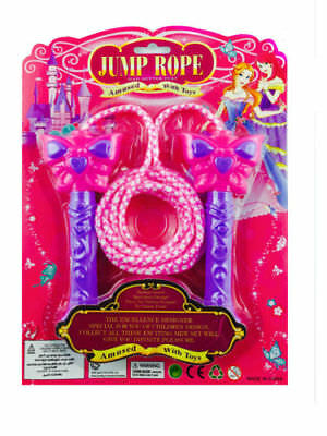 Kids Girls Jumping Rope Toy Flower Heart Butterfly PINK JUMPING ROPE • 3.99£