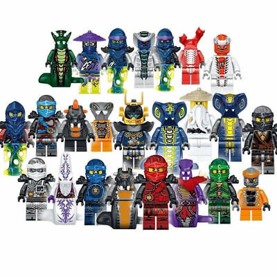 Set Of 24 Pcs Ninjago Mini Figures Kai Jay Minfigures Building Blocks Toys Gift • 9.66£