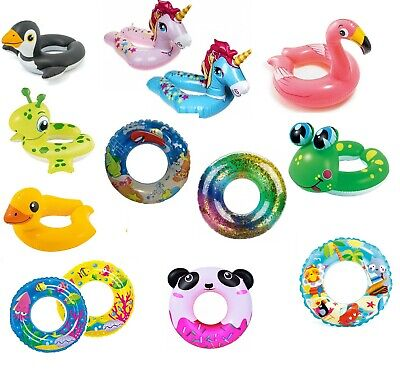 Kids Inflatable Swim Ring Swimming Aid Holiday Summer Pool Beach Fun 3-6 Years • 4.49£