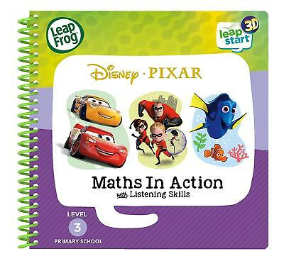 Leapstart Reception: Disney Pixar Maths In Action Activity Book 3D *NEW* • 7.99£