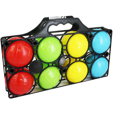 8 Pieces French Plastic Boules Ball In Carry Case Outdoor Petanque Garden Beach • 13.95£
