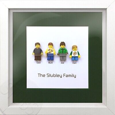 Lego Family Or Superhero Family Personalised Minifigure Picture Frame • 28£