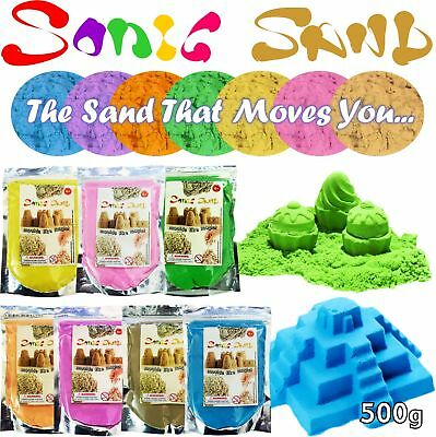 Sonic Sand 500g Bags Mould & Play Magic Motion Crazy Never Dry Dough Kinetic Kid • 5.99£