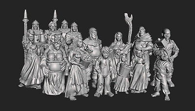 28mm Villagers Dark Realms  (multi-listing) Several Images • 4.50£
