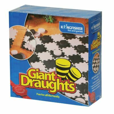 New Giant Draughts Garden Outdoor Fun Family Summer Sports Lawn Kids Bbq • 11.99£