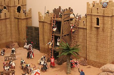 King Country Crusaders Knights Castle Ancient City Toy Soldiers  Britains • 575£