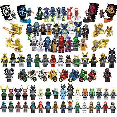 Ninjago Mini Figures Kai Jay Lloyd Sensei Wu Master Building Blocks Toy Gift Set • 9.99£