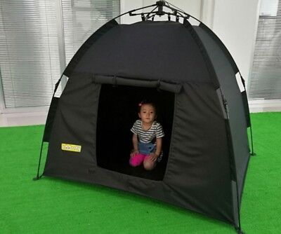 Dark Den, Sensory,SEN, Autism, ADHD, ASD, Dark Easy Up Pole Tent • 53.99£