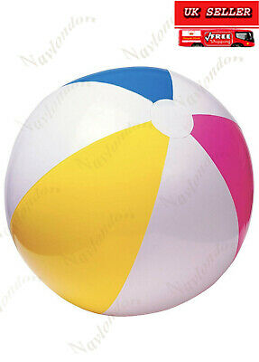 Large  BEACH BALL Giant Blow Up Holiday Pool Party Swimming Garden Park • 2.89£