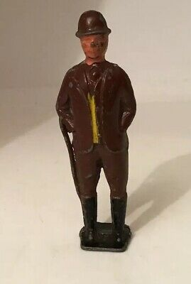 Vintage Crescent Toys, Lead Figure, Farmer? With A Cane & Bowler Hat • 10£