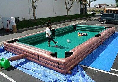 Inflatable Football Pool Table Snooker 7.8m X 4.8m • 1,600£