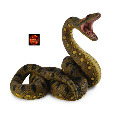 CollectA Green Anaconda Snake Toy Model Figure 88688 - New With Tag • 9.99£
