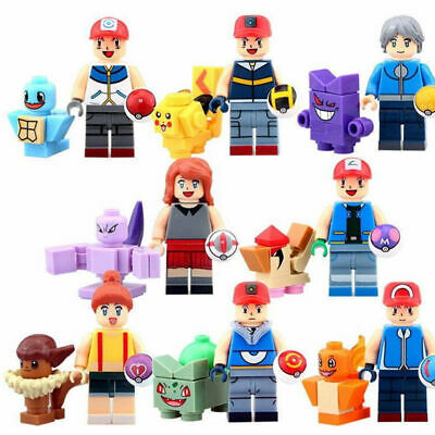 16Pcs Pokemon Go Set POKEMON Mini Figures PIKACHU Building Blocks Toys Kids Gift • 7.66£