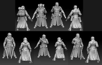 28mm Human Adventurers D&D Onmioji Multi Listing • 12£