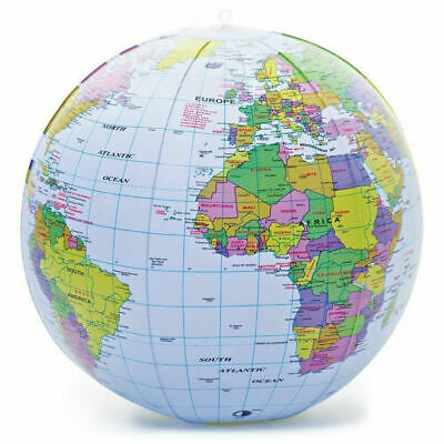 40CM Inflatable Globe Map Ball World Earth Geography Blow Up Atlas Education Toy • 1.99£