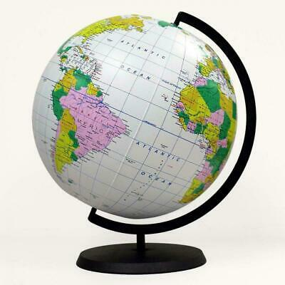Bow-up GLOBE 40cm World Map Atlas Earth Education Inflatable Toy Ball Party Gift • 3.99£