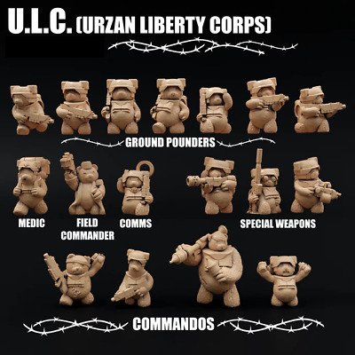 Urzan Liberty Corps: Infantry 28mm A Force Of Teddy Bear Sci-fi Soldiers  • 14£