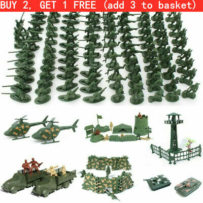 Hot Military Plastic Toy Soldiers Army Men Figures 12 Poses Boy Gift Toy Model • 3.88£