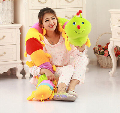 47  Gaint Colorful Long Caterpillar Inchworm Soft Toy Doll Pillow Birthday Gift@ • 19.51£