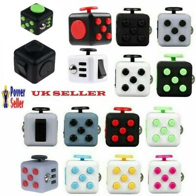 Fidget Cube Children Special Adults Stress Anxiety Relief Desk Fiddle Toy ADHD • 5.99£