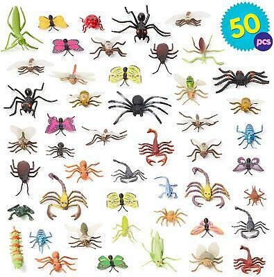 Plastic Mini Insect Bugs Action Kids Toys Jungle Decor Loot Party Bag Filler  • 12.99£