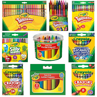 Crayola Crayons - Ultra Clean Large, Silly Scents, Easy-Grip Jumbo, Twistables. • 6.50£