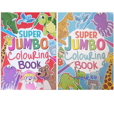 KIDS A4 Super Jumbo Activity Colouring Book Books Pencils OVER 135 PAGES • 5.99£