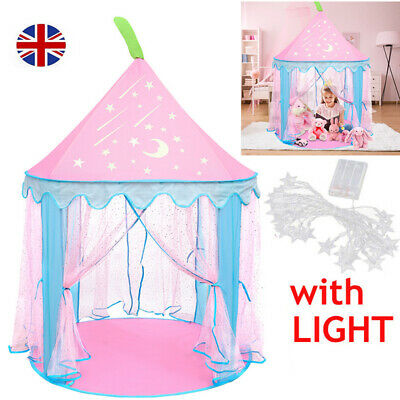 Kids Teepee Play Tent Princess Castle Baby Girls Children House Indoor Outdoor H • 30.89£