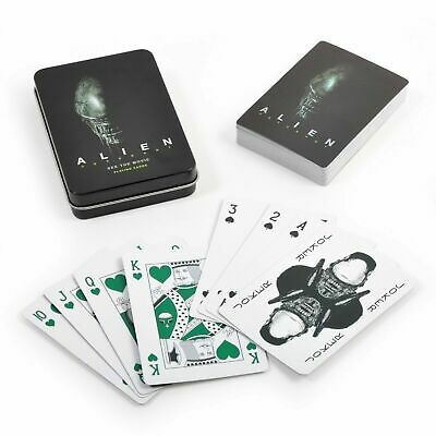 ALIEN Covenant Metal Effect Playing Cards COLLECTORS  Metal Tin Movie Promo • 3.95£
