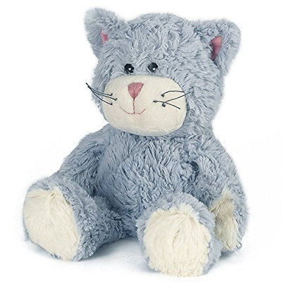 Warmies Cozy Plush Blue Cat Fully Microwavable Toy • 17.07£