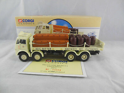 Corgi Classics 97942 ERF Flatbed With Chains & Barrels Flowers 1:50 Scale  • 16.50£